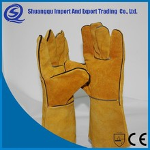 Long Sleeve leather working glove ,Special welding welding safety work gloves factory
