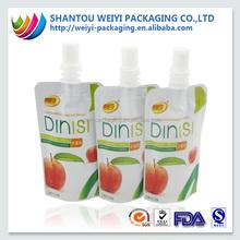 200ml fancy printed plastic fruit juice packaging bags shantou