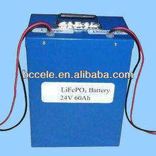 High quality lithium 24V 60ah lifepo4 battery with full capacity
