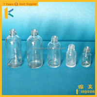 Hot sale different size of transparent glass essential oil/olive oil bottles
