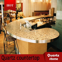 china cheap beige quartz stone countertop price
