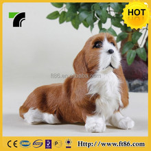 Realistic discounted handmade furry dog for gift and decoration