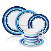 Certificated OEM handprinted stoneware dinner set,custom printed ceramic dinnerware china supplier