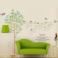 Family Tree Removable Wall Stickers Photo Birds Photograph Memory Frame Picture Wall Sticker Fashion House Decoration