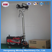 Portable mobile lighting tower powered by diesel engine /led project lighting
