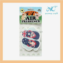 Factory price wholesale hanging scented paper shoe air freshener for car