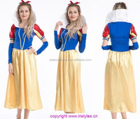 Instyles Adult Snow White Princess Costume Halloween Fairytale Storybook Character Fancy Dress Costume