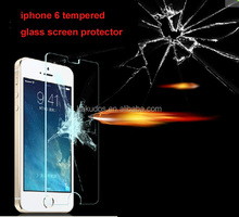 0.33mm 2.5D Transparent Tempered Glass Screen Protector for iphone 6/iphone 6 plus