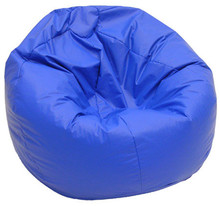 Leather bean bag Gaming bean bag Chair xxl in blue faux leather