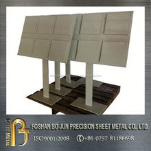custom certificated floor standing powder coat rack manufacture from china supplier