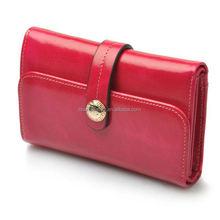Best design fashion leather wallets ladies purses