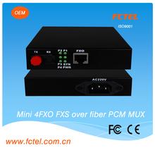 Mini type audio ethernet converter , 1~4 channel PCM mux , fiber optical converter audio video