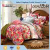 Wholesale alibaba cheap bed sheet sets American countryside style beautiful floral design full size cotton bed sheet