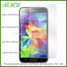 perfect adhesion crystal clear tempered glass screen protector for s6,screen protector for Samsung Galaxy S6