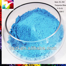 Foshan ceramic top selling color Turquoise blue stains