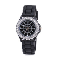 Women Silicone Watches Silicone Rubber Strap Watch Fancy GENEVA Brand Clock