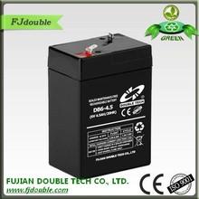china enterprise lead acid agm vral 6v 4.5ah rechargeable battery