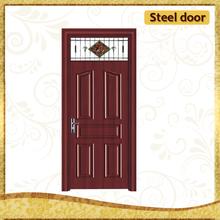 Iraq commercial factory direct sales steel doors smart glass door