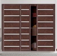 Modern bedroom design 3 door/panel sliding closet door with decorative bar
