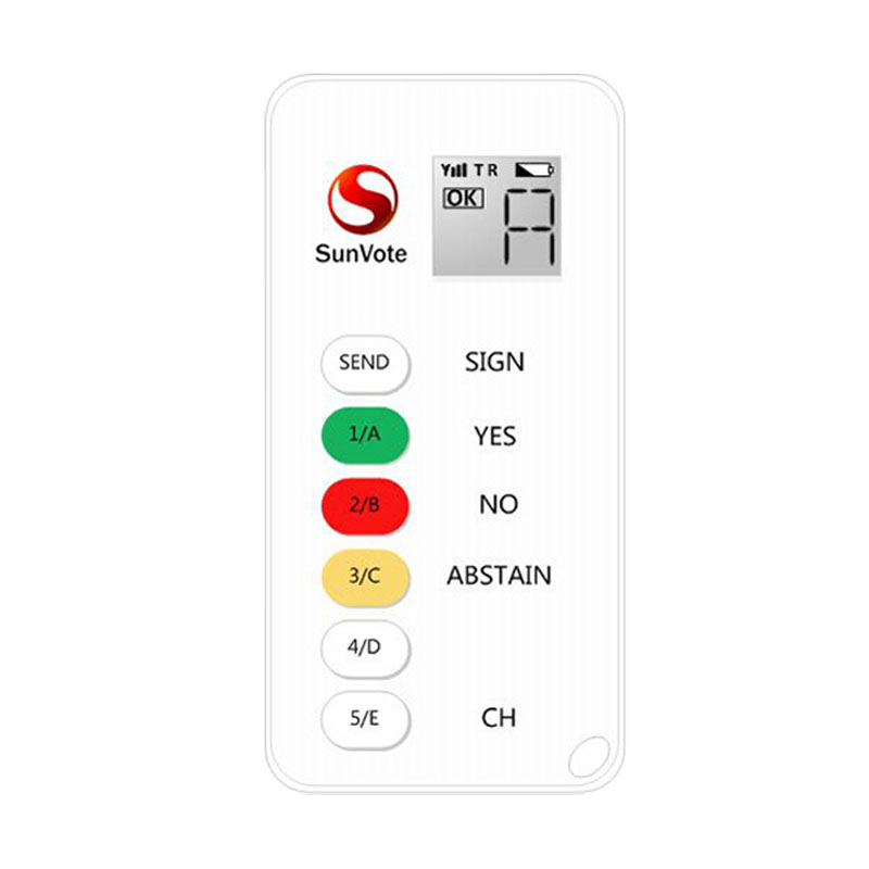 SunVote Audience voting keypad