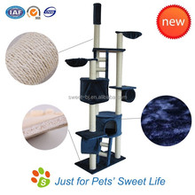 Sweet Factory Supply Pet Cat wooden scratching post Sisal Cat Tree