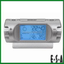 2015 Multifunction weather station clock,Weather forecast table clock with LED light,Best quality weather forecast clock G20C108