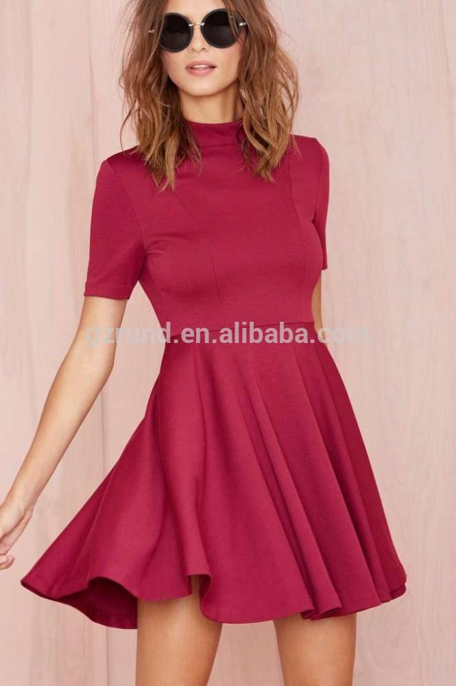 Moda vintage mujer manga corta vestidos 2015 vestidos sin espalda