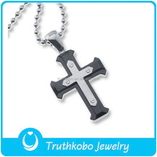 rosary jewelry wholesale religious jewelry necklace cross pendant charm black rosary bead chain necklace