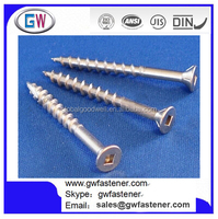 304 Stainless Steel Type 17 Countersunk Head Square Drive Deck Screw