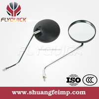 ZF001-50 FLYQUICK High quality motorcycle motorbike racing bike black plastic side mirror for YAMAHA RX115 DT125 CY80