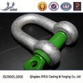 Alta resistencia de la norma ISO galvanizado forma recta dee shackle