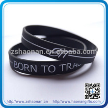 brand new high quality customize color silicone wristband for corporate anniversary gifts