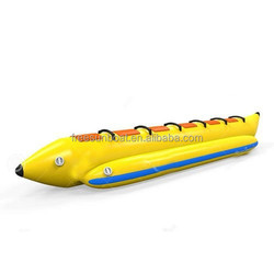 OEM 0.9mm PVC inflatable banana boats towable toys for water games