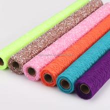 2015 China Decoration Flower Cheap Fabric Roll Rubber Patch Mesh Fabric Art Mesh Rolls