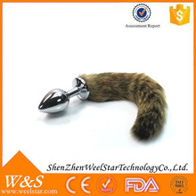 2015 Wholesale sex product for man and woman, dog tail anal plug sex product.