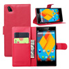 Anti-shock leather flip phone case cover for zte blade l3