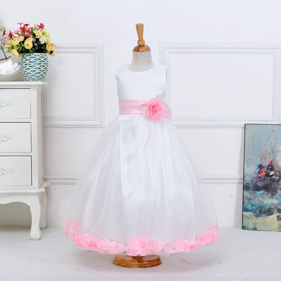 2016 Ruffle Lace Baby Dresses Ceremony Baby Dress Kids Dress Long ...