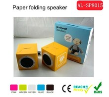 OEM/ODM Fashion design colorful paper and cardboard speaker with full painting