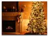lighted christmas tree led canvas wall art prints