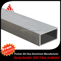 China supplier anodized aluminum pipe, aluminum rectangular tube, 15mm aluminum tube