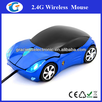 Erogonomic design wired car design mouse with head light