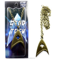 Star Trek Into Darkness Logo Pendant Necklace Chain Cupreous Type B