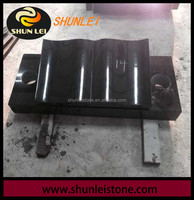 Black granite for cemetery stone