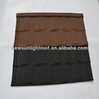 Resistance to heavy rain earthquake resistance colorful stone coated steel roof tile