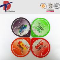 PP Plastic Cup Sealing film laminated Aluminum Foil Lid For Yogurt Cup