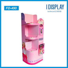 barbi dolls folding cardboard display stand