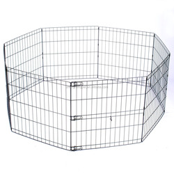 Folding Dog Cage Pet Kennel Octagonal Pet Fence