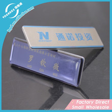 Metal Craft of Dropping epoxy Nameplate/magnet and pin namebadge/stainless steel name tag