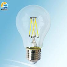 A60 6w E27 filament led bulb with round 180 angle for sale