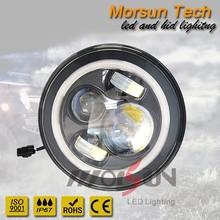 New 45w Halo 7 inch round led headlight for offroad, Jeep wrangler 7 inch led headlight, 7 inch round led headlight 12v 24v